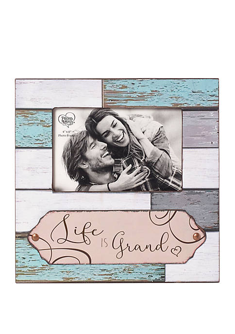 Precious Moments Farmhouse Decor Life Is Grand Wood/Glass