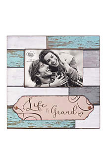 Farmhouse Decor Life Is Grand Wood/Glass 5 in x 7 in Photo Frame 189908