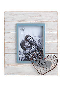 Farmhouse Decor Love Is Sweet Wood/Metal/Glass 5 in x 7 in Photo Frame 189914