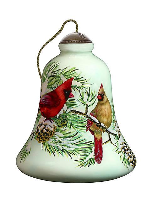Precious Moments Winter Cardinals Ornament