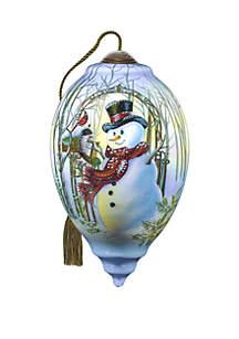 Christmas Greetings Snowman Ornament