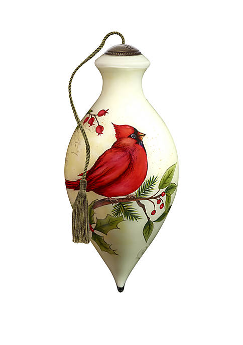 Precious Moments Cardinal Holly Ornament