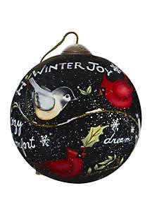 Precious Moments Winter's Cardinals Ornament