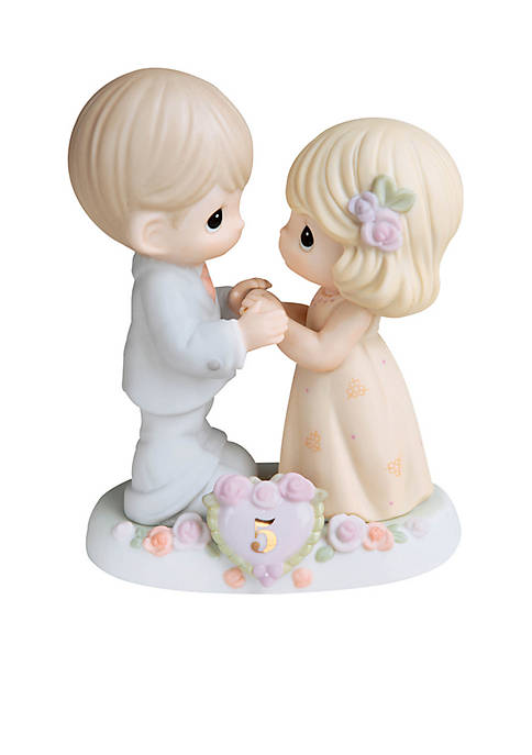 Precious Moments 5th Anniversary Couple Figurine