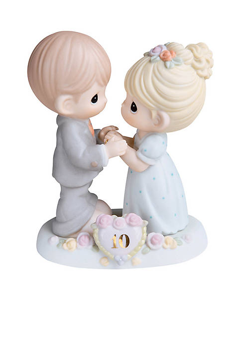 Precious Moments 10th Anniversary Couple Figurine