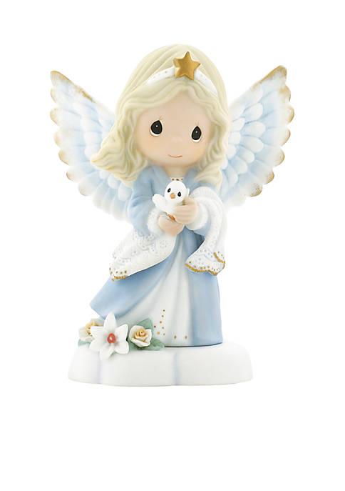 Precious Moments Angel With Dove Figurine