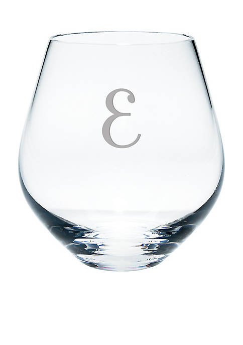 Lenox® Tuscany Classics Script Monogram Simply Red Stemless