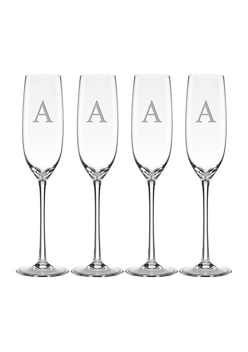 Lenox® Tuscany Classics Block Monogram Flutes Set of