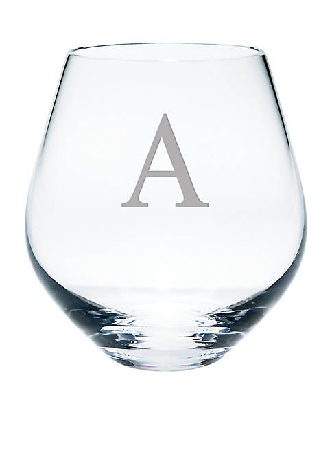 Lenox® Tuscany Classics Block Monogram Simply Red Stemless