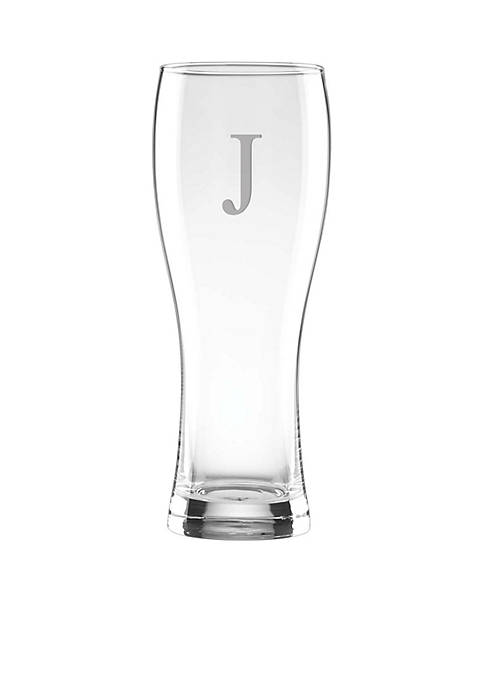 Lenox® Tuscany Classics Block Monogram Wheat Beer Glass-