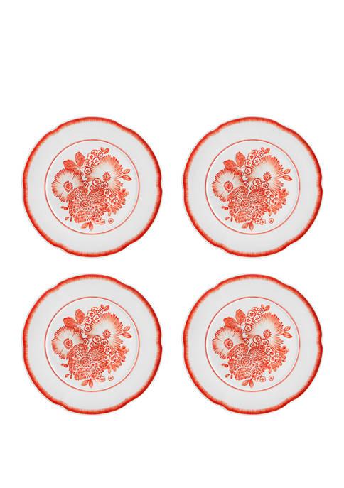 Set of 4 Coralina Dinner Plates