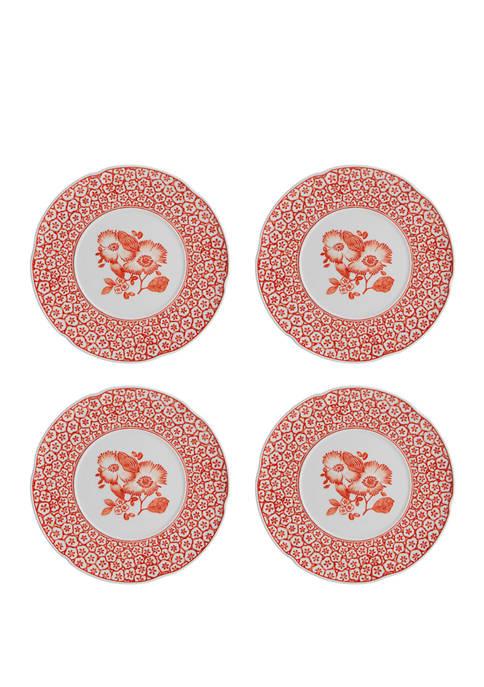 Set of 4 Coralina Dessert Plates