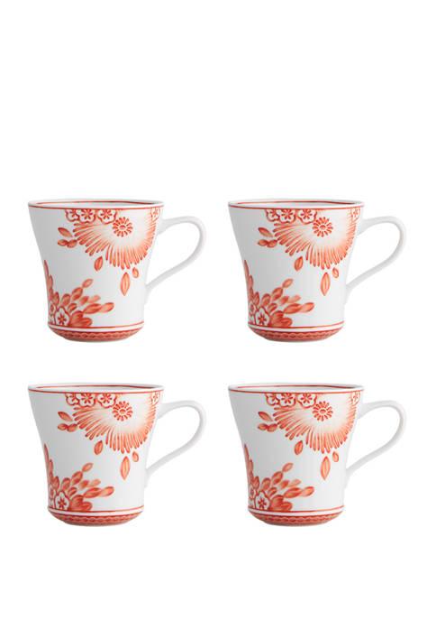 Set of 4 Coralina Mugs