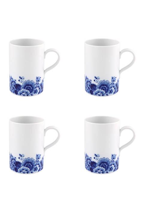 Set of 4 Blue Ming Mugs