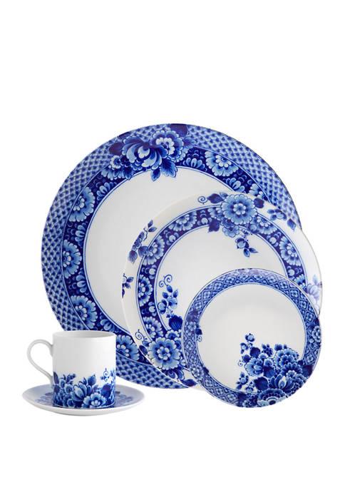 5 Piece Blue Ming Dinnerware Set