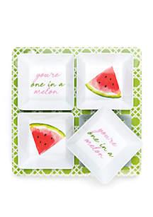Crown & Ivy™ Watermelon Set of 4 Dip Tray