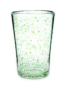Crown & Ivy™ Green Speckled High Ball Glass