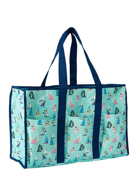 Crown & Ivy™ Boat Print Beach Bag