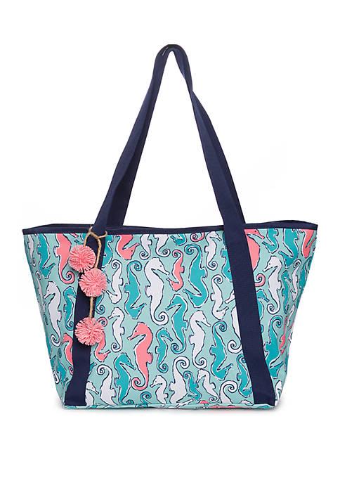 Crown & Ivy™ Faux Seahorse Beach Bag Tote
