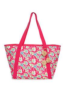Crown & Ivy™ Faux Palm Tree Beach Bag Tote