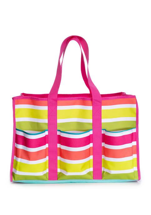Crown & Ivy™ Pink Stripe Beach Bag