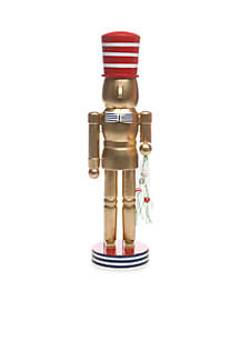 Home for the Holidays Gold Nutcracker With Bowtie