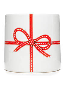 Home for the Holidays Medium Red Bow Vase