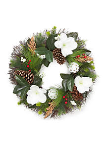 Home for the Holidays Magnolia Wreath