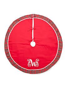 Home for the Holidays Round Monogrammed Tree Skirt