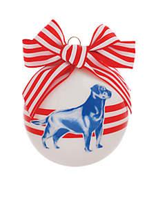 Lab Dog Glass Ornament