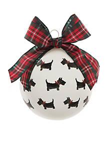 crown ivy scottie dog glass ornament - Scottie Dog Christmas Decorations