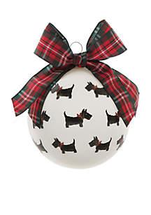 Scottie Dog Glass Ornament