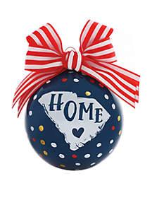 South Carolina Glass Ornament
