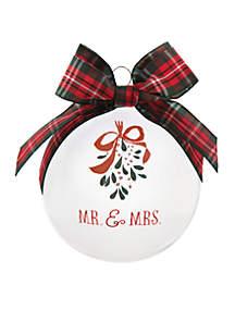 Mr. & Mrs. Glass Ornament