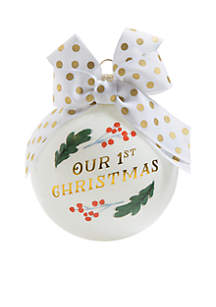 Our First Christmas Glass Ornament