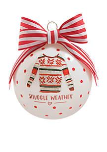 Snuggle Weather Glass Ornament