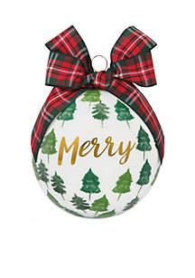 Merry Glass Ornament