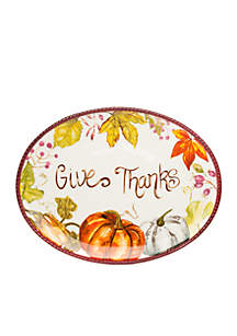 Modern. Southern. Home.™ Give Thanks Platter