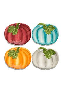 Pumpkin Appetizer Plate, Set of 4