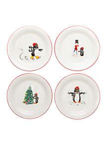 Penguin Salad Plate, Set of 4