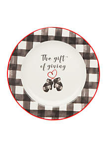 Buffalo Plaid Mitten Cookie Plate