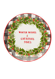 Winter Wishes Cookie Plate