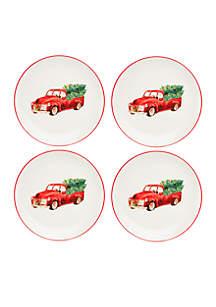 Truck Dinner Plates Set of 4