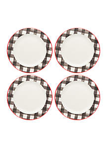 Buffalo Check Dinner Plate, Set of 4