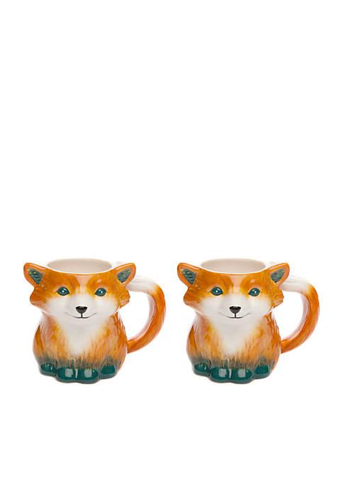 Modern. Southern. Home.™ Fox Mug, Set of 2