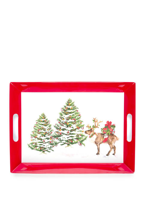 Melamine Holiday Tray