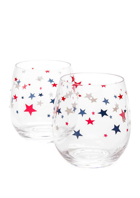 2-Pack Modern. Southern. Home. Americana Stemless Wine Glass