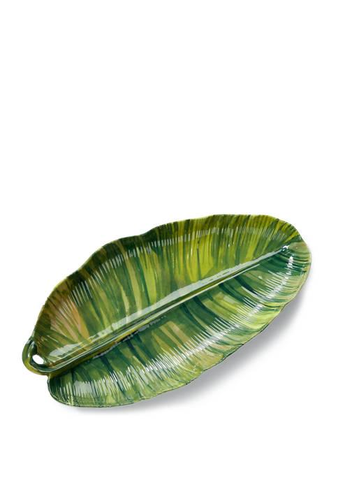 Palm Leaf Melamine Serving Platter