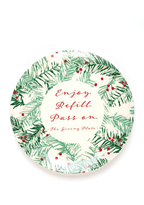 Holiday Branch Giving Plate