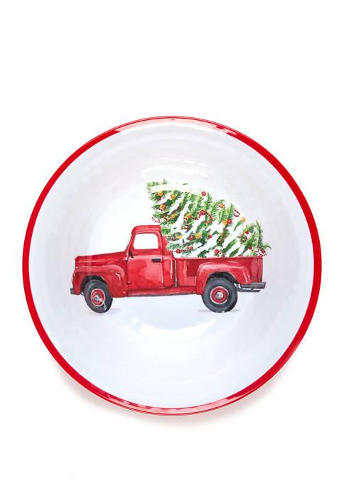 Holiday Melamine Serving Bowl